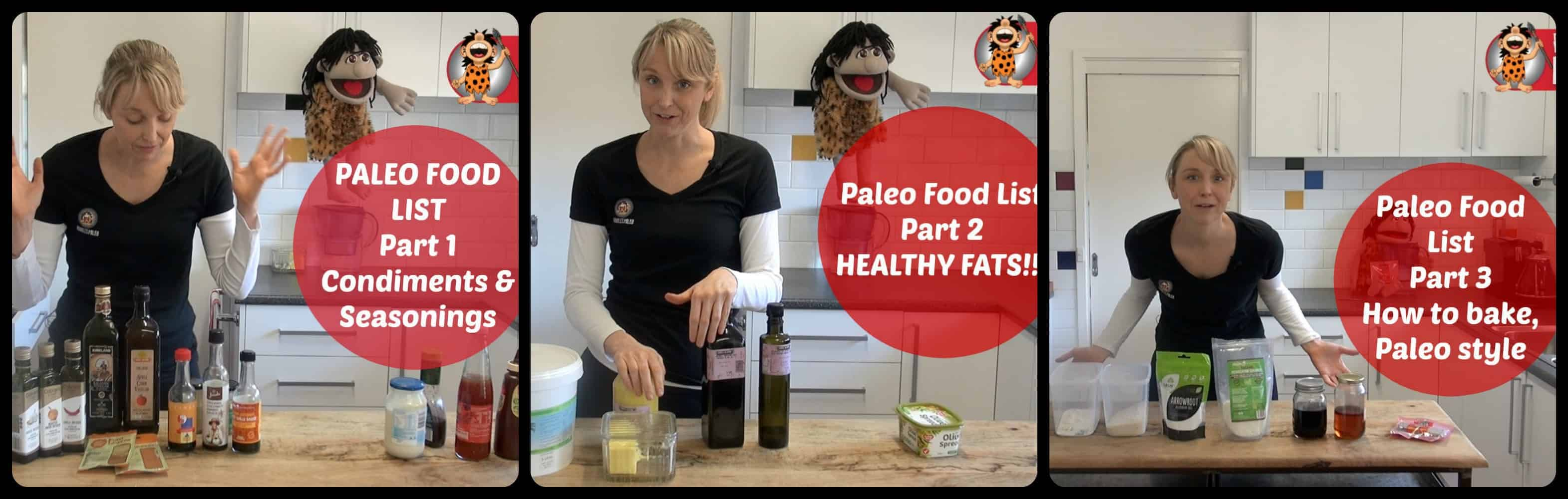 Part 1 2 3 Paleo shopping ingredients paleo staples