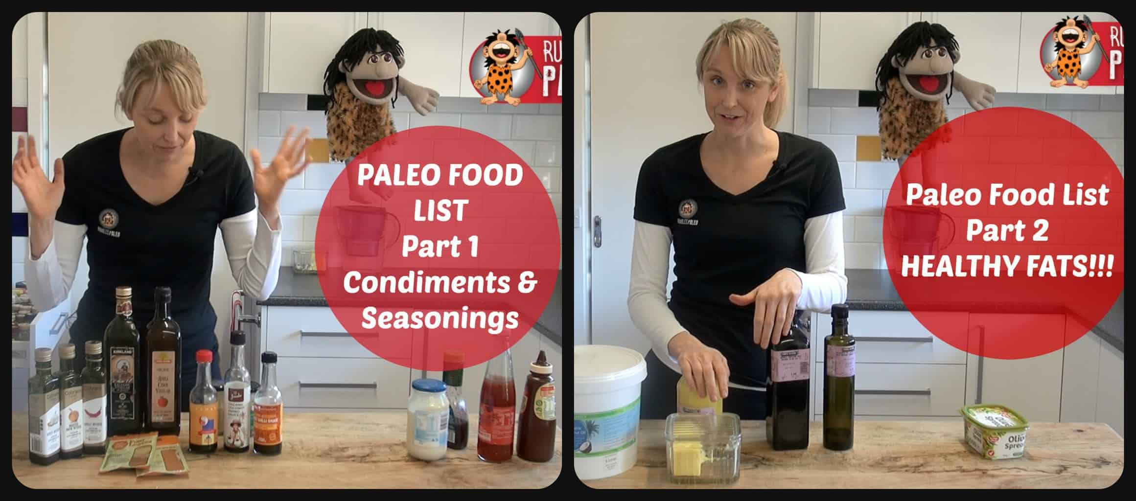 Part 1 and 2 Paleo shopping ingredients paleo list rumbles paleo
