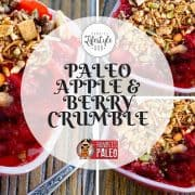 paleo dessert recipe apple berry crumble