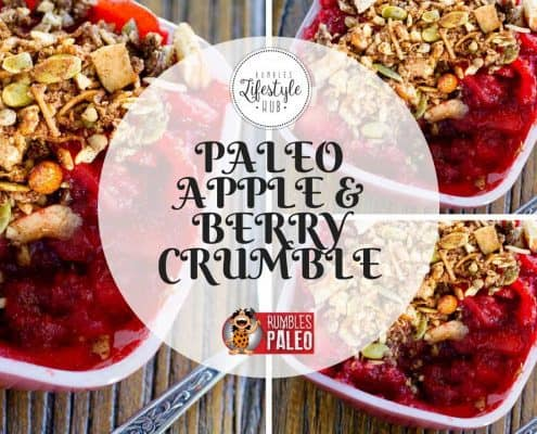 paleo dessert recipe apple berry crumble